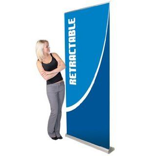 Orient Retractable Banner Stand  35.5in Silver Office