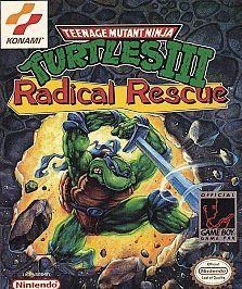 Teenage Mutant Ninja Turtles III Radical Rescue Nintendo Game Boy, 1989