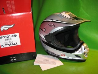 FULMER MX FULL FACE HELMET SILVER ARROW X SMALL SIZE AF X521 14A