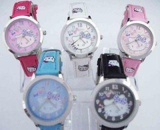 Hello Kitty Children Sport Wrist Watch 5 different Color Time Clock B2