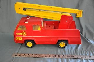 TONKA TRUCK FIRE RESCUE RED/YELLOW FOR PARTS/RESTORE