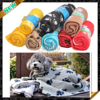 Brand New Hot Sell Cute Handcrafted Cozy Soft Paw Prints Pet Fleece
