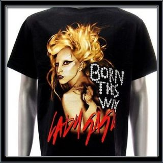Sz XL LADY GAGA T shirt Sexy Pop Rock Men Born This Way