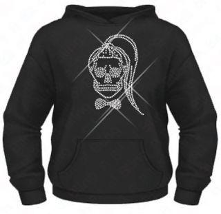 Ladies Diamante / Rhinestone Lady Gaga Born This Way Skull hoodie XS