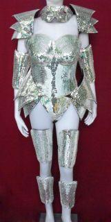 Robot Vegas Roman Armor Lady Gaga Man Woman Mirror Costume Set L 1X