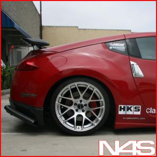 19 NISSAN 350Z AVANT GARDE M310 SILVER CONCAVE STAGGERED RIMS WHEELS