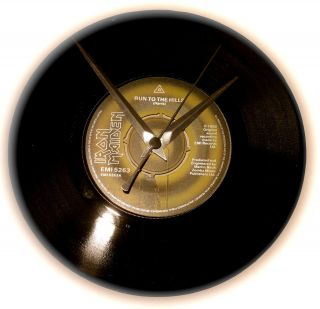 Iron Maiden Vinyl Single 7 Clock Ideal Gift Many titles available