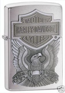 Zippo Harley Davidson Logo Emblem Chrome Lighter,Low Ship, 200HD