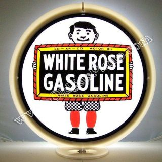 WHITE ROSE BOY GASOLINE GAS & OIL PUMP GLOBE FREE S&H G 205