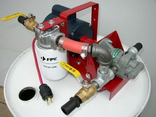 New Waste/Fuel Oil Transfer Pump,Biodiesel,WVO,Diesel,10 GPM,10 Micron