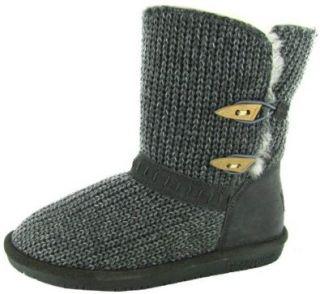 Bearpaw Womens Abigail Knit Boots Sheepskin: .co.uk: Shoes