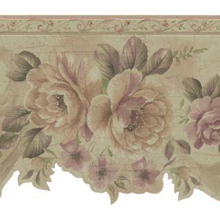 Ver Brewster Wallcovering 6 1/4 Die Cut Floral Prepasted Wallpaper