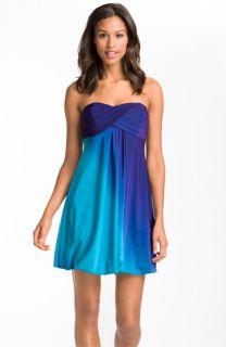 Xscape Strapless Ombré Jersey Dress