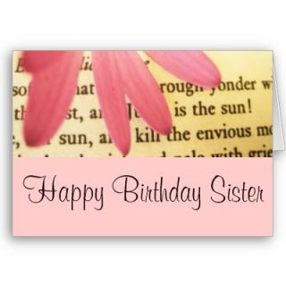 Sister Birthday Greetings Greeting Cards from Zazzle