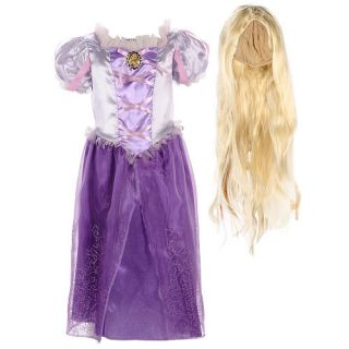 Disney Princess Rapunzel Halloween Costume with Wig   Toddler Size 3T