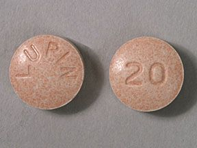 Picture LISINOPRIL 20MG TABLETS  Drug Information  Pharmacy