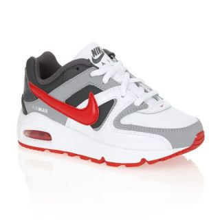 NIKE Basket Air Max Command Enfant Blanc, taupe, gris et rouge