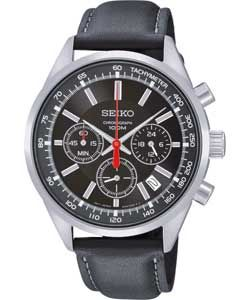 Buy Seiko Mens Black Chronograph Watch at Argos.co.uk   Your Online