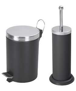 Ceramic toilet buy ceramic toilet lots from china ceramic for Black bathroom bin and toilet brush