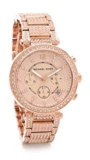 Michael Kors Parker Glitz Chronograph Watch