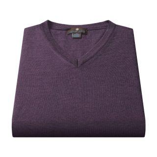 Toscano Merino Wool Vest (For Men) in Amethyst/Flint