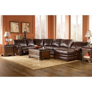 Signature Design by Ashley Nixon 5 Piece Leather Match Power Reclining