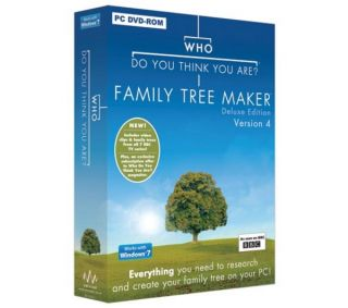 AVANQUEST Who Do You Think You Are Family Tree Maker Deluxe Version 4