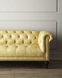 Old Hickory Tannery Fenway Tufted Leather Sofa   The Horchow