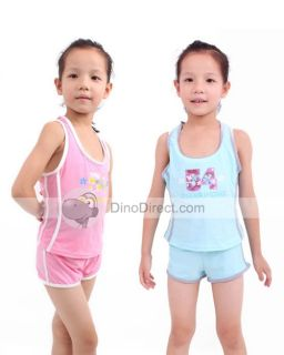 Wholesale Sport Accessory Flat Angle Girls Swimwear 2Pieces