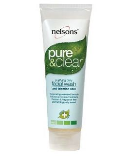 Nelsons Pure and Clear Anti Blemish Facial Wash   125ml   Boots