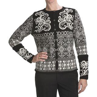 Vrikke Nordic Wool Ski Cardigan Sweater (For Women)   Save 40%