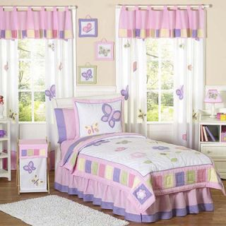 Sweet Jojo Designs Pink and Lavender Butterfly Youth Bedding