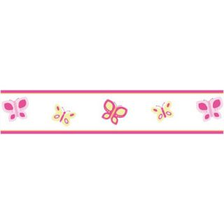 Sweet Jojo Designs Nursery Wallpaper Border   Pink and Orange