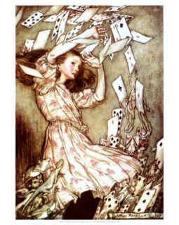 Alice and the Pack of Cards Print at Art
