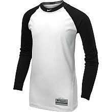 NIKE Boys Pro Combat Core Fitted Long Sleeve Baseball Top