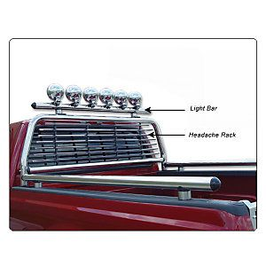 Go Industries Stainless Steel Headache Racks   JCWhitney