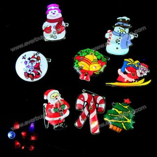 2012 New Design and Popular LED Flash Brooch Badge of High Quality