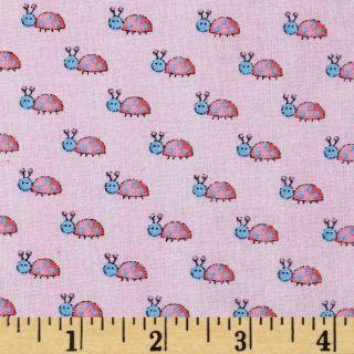 Garden Baby Lady Bugs Pink   Discount Designer Fabric   Fabric