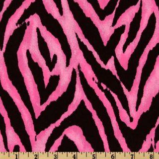 Animal Prints Tiger Pink/Black   Discount Designer Fabric   Fabric