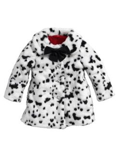 Ladybird Girls Dalmatian Faux Fur Coat Littlewoods