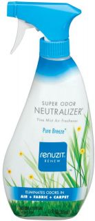 Renuzit Super Odor Neutralizer Air Freshener Spray, Pure Breeze 13 oz