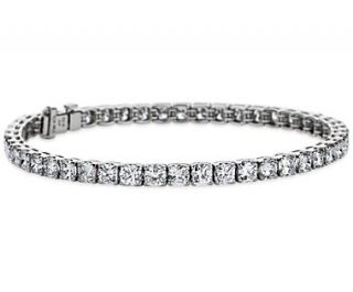 Cushion Diamond Tennis Bracelet in Platinum (9.50 ct. tw.)  Blue Nile