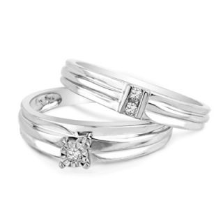 10 CT. T.W. Diamond Bridal Set in 10K White Gold   View All Rings
