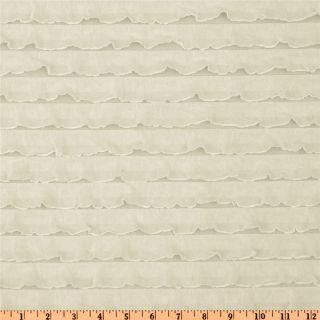 Stretch Ruffle Knit Ivory   Discount Designer Fabric   Fabric