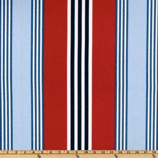 Waverly On Course Canvas Stripe Nautical   Discount Designer Fabric