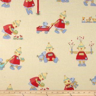 Bot Buddies Flannel   Discount Designer Fabric   Fabric