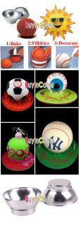 3D Ball Cake Cookies Pan Mold Fondant Modelling Bakeware Baking Mould