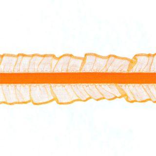 Riley Blake 1 Elastic Lace Trim Orange   Discount Designer Fabric