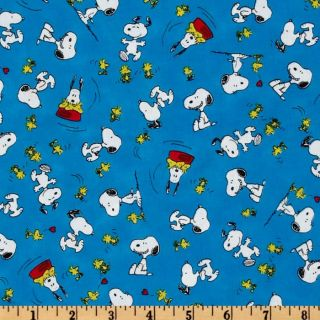 Happiness Is…Peanuts Snoopy & Woodstock Blue   Discount Designer