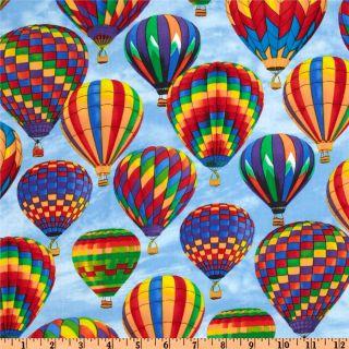 Timeless Treasures Hot Air Balloon   Discount Designer Fabric